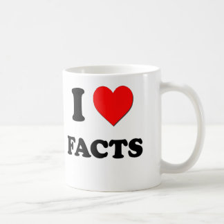 I Love Facts Coffee Mug
