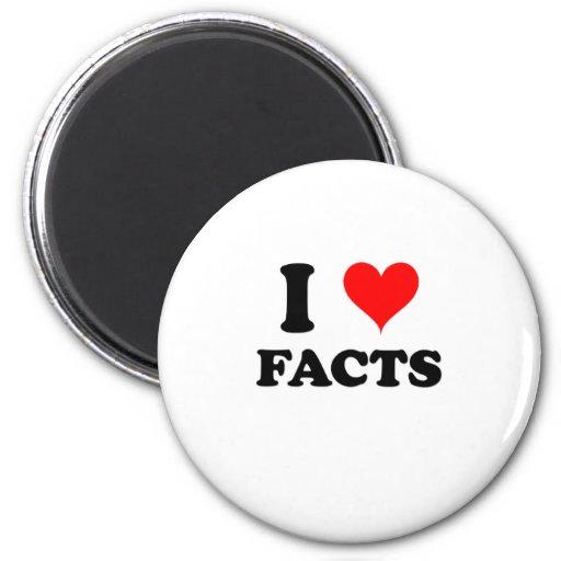 I Love Facts Fridge Magnet