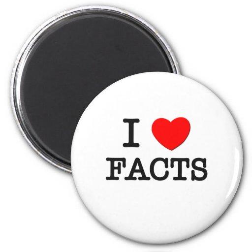I Love Facts Refrigerator Magnet