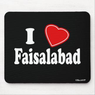 I Love Faisalabad Mousepad