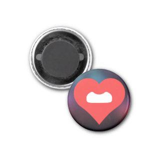 I Love Fake Moustaches Design 3 Cm Round Magnet