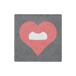 I Love Fake Moustaches Design Stone Magnet