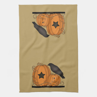 I Love Fall Crow Pumpkin towel