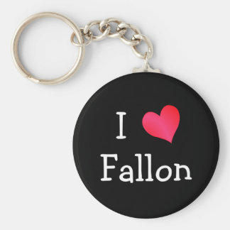 I Love Fallon Key Ring