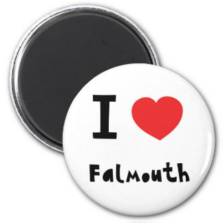 I love Falmouth 6 Cm Round Magnet