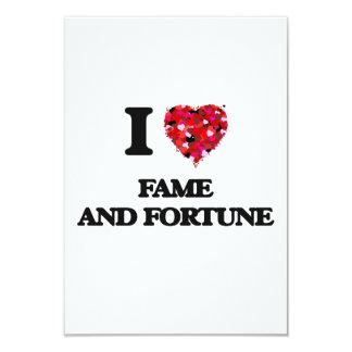 I love Fame And Fortune 9 Cm X 13 Cm Invitation Card
