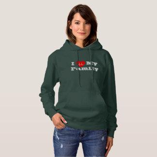 I love  Family Custom heart custom hoodie green