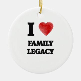 I love Family Legacy Round Ceramic Decoration