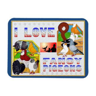 I Love Fancy Pigeons! Magnet