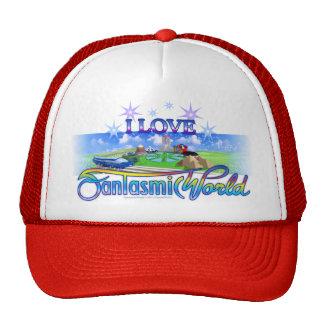 I Love FantasmicWorld (Theme Park) Mesh Hats