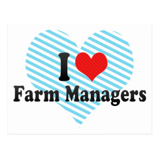 I Love Farm Managers Postcards