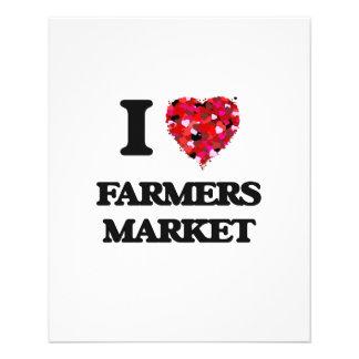 I Love Farmers Market 11.5 Cm X 14 Cm Flyer