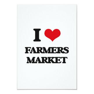I love Farmers Market 9 Cm X 13 Cm Invitation Card