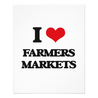 I love Farmers Markets 11.5 Cm X 14 Cm Flyer