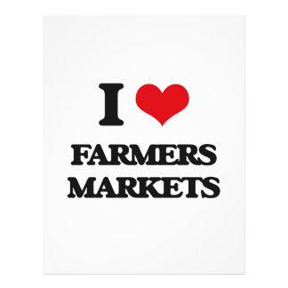 "I love Farmers Markets 8.5"" X 11"" Flyer"