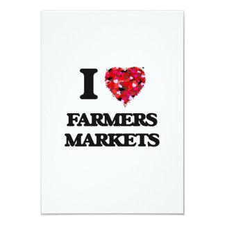I love Farmers Markets 9 Cm X 13 Cm Invitation Card