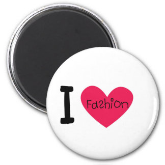 I love fashion 6 cm round magnet