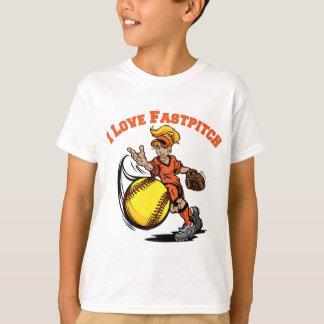 I Love Fastpitch, orange T-Shirt