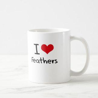 I Love Feathers Mugs