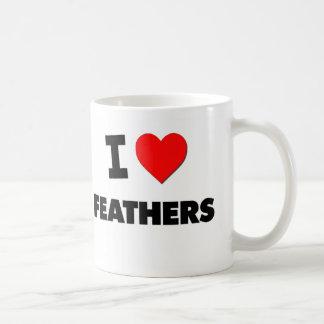 I Love Feathers Coffee Mugs
