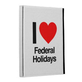 i love federal holidays iPad folio cases