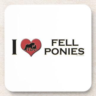 "I Love Fell Ponies:  ""I Heart Fell Ponies"" Drink Coasters"
