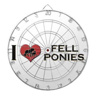 "I Love Fell Ponies:  ""I Heart Fell Ponies"" Dart Board"
