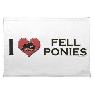 """I Love Fell Ponies:  """"I Heart Fell Ponies"""" Place Mats"""