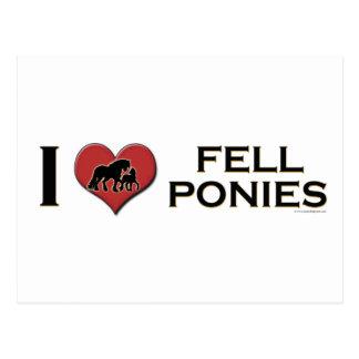 "I Love Fell Ponies: ""I Heart Fell Ponies"" Postcard"