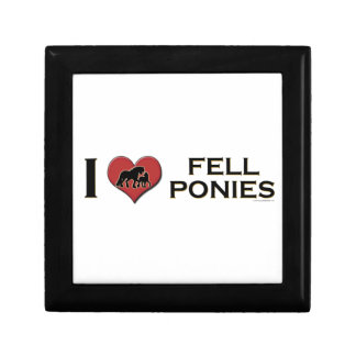 "I Love Fell Ponies:  ""I Heart Fell Ponies"" Small Square Gift Box"