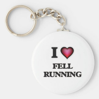 I Love Fell Running Basic Round Button Key Ring
