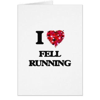 I Love Fell Running Greeting Card