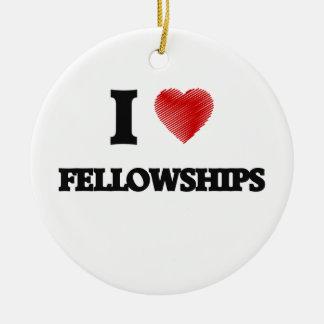 I love Fellowships Round Ceramic Decoration