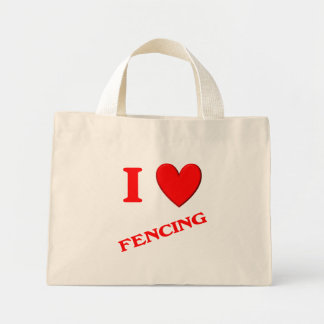 I Love Fencing Tote Bags