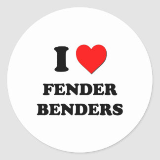 I Love Fender Benders Classic Round Sticker