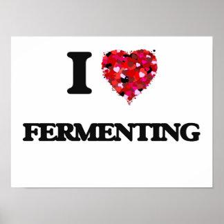I Love Fermenting Poster