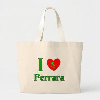 I Love Ferrara Italy Tote Bags