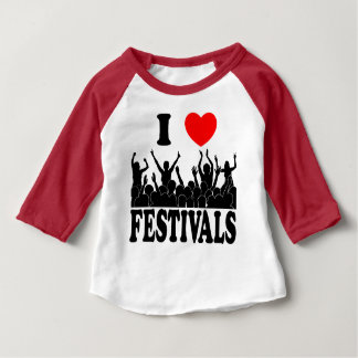 I Love festivals (blk) Baby T-Shirt