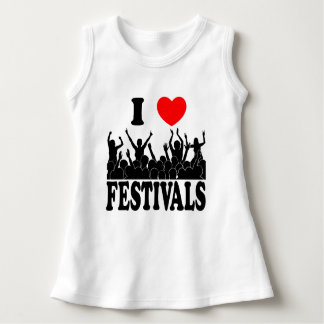 I Love festivals (blk) Dress