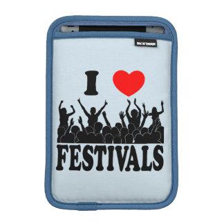 I Love festivals (blk) iPad Mini Sleeve