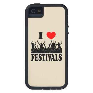 I Love festivals (blk) iPhone 5 Cover