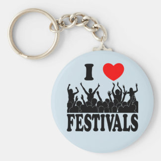 I Love festivals (blk) Key Ring
