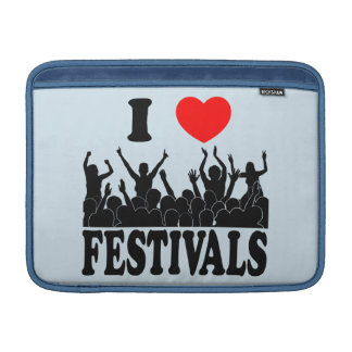 I Love festivals (blk) MacBook Sleeve