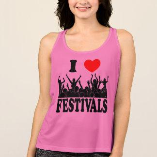 I Love festivals (blk) Singlet