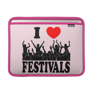 I Love festivals (blk) Sleeve For MacBook Air