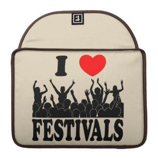 I Love festivals (blk) Sleeve For MacBooks