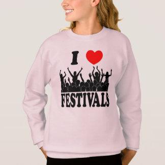 I Love festivals (blk) Sweatshirt
