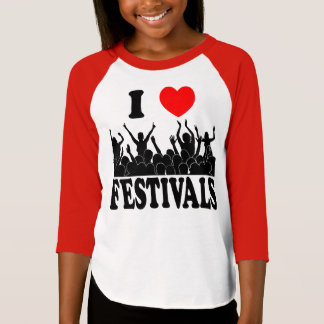 I Love festivals (blk) T-Shirt