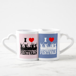 I Love festivals Coffee Mug Set