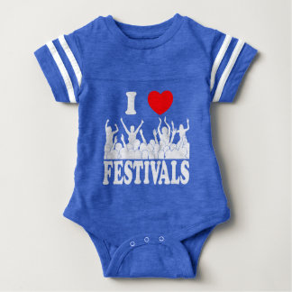 I Love festivals (wht) Baby Bodysuit